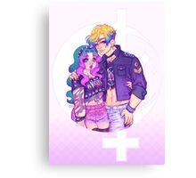 Pastel Goth Haruka & Michiru Canvas Print