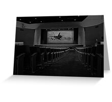 Movie Theater in Black and White Greeting Card