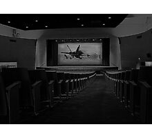 Movie Theater in Black and White Photographic Print