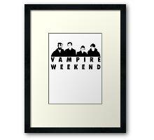 Vampire Weekend t-shirt Framed Print
