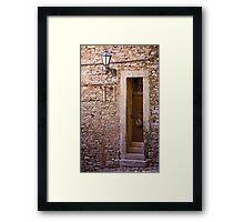 Skinny Door Framed Print