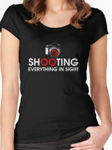 Shooting Everything In Sight T-Shirt Women's Fitted Scoop T-Shirt