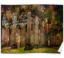 Old Sheldon Church Ruins Poster