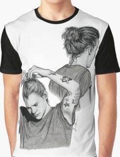 Harry Man Bun Sketches Graphic T-Shirt