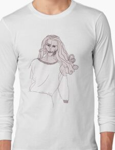 Knitted Lady #3 Long Sleeve T-Shirt