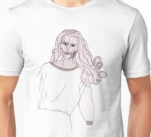 Knitted Lady #3 Unisex T-Shirt