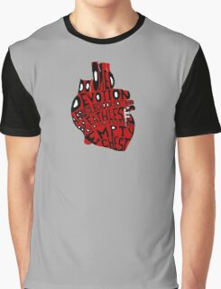 empty chest : anatomical heart (small red) Graphic T-Shirt