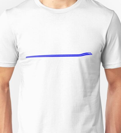 Dodge Chalenger R/T Side Fender Stripe Teeshirt - Blue Unisex T-Shirt