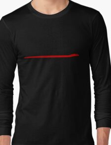 Dodge Chalenger R/T Side Fender Stripe Teeshirt - Red Long Sleeve T-Shirt