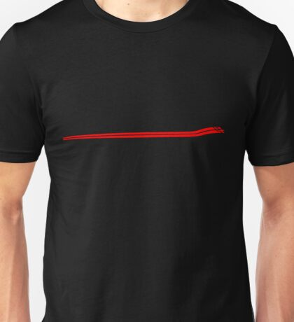 Dodge Chalenger R/T Side Fender Stripe Teeshirt - Red Unisex T-Shirt