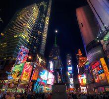 Times Square Moonlight by Yhun Suarez