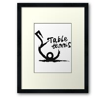 【5800+ views】Table tennis in Chinese brushing drawing style Framed Print