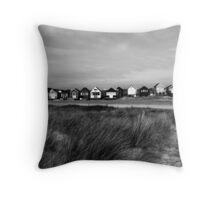 Beach Huts over the Dune Throw Pillow