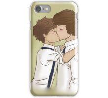 Larry Stylinson Kissing Fanart iPhone Case/Skin