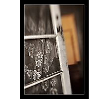 Old Door with Lace Photographic Print