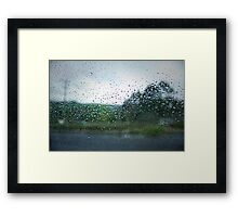 Raindrops on my Windscreen Framed Print