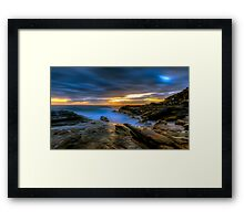 Illuminated Rock Framed Print