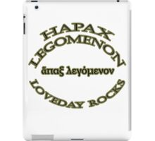 Hapax legomenon #1 iPad Case/Skin