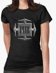 Pub in metal cross Womens Fitted T-Shirt