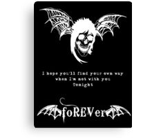 foREVer Fiction Quote  Canvas Print