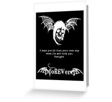 foREVer Fiction Quote  Greeting Card