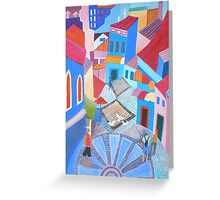 Albufeira with tourists Greeting Card