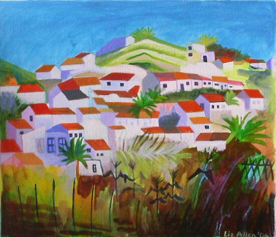 View of Aljezur, Algarve by Liz Allen