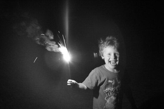 """Sparkler Fun 1""  by Carter L. Shepard by echoesofheaven"