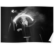 """Sparkler Fun 7""  by Carter L. Shepard Poster"