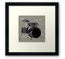 Black drums Framed Print