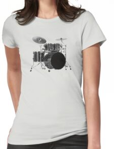 Black drums Womens Fitted T-Shirt