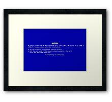 BSOD Human Framed Print