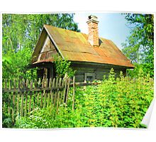 Timber Dacha at Kartashevskaya Poster
