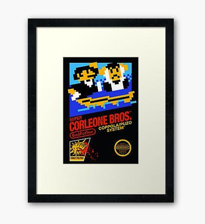 Super Corleone Bros Framed Print