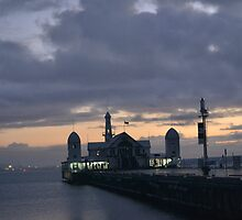 The Pier in the morning sunrise. by diamonddays