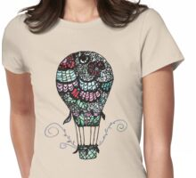 Flower Air Balloon Womens Fitted T-Shirt