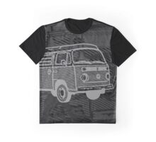 Black Silver Bay Campervan Dub-U (please see description) Graphic T-Shirt