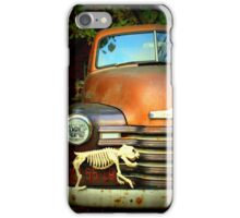 Dog Skeleton On Grille Of 1953 Chevy 3600 Truck iPhone Case/Skin