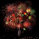 Freedom Fourth Fireworks Show - Albuquerque, New Mexico by Mitchell Tillison
