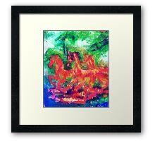 wilde Pferde Framed Print