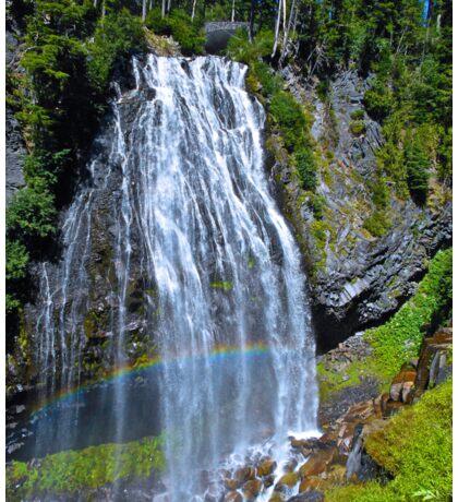 Rainbow at Narada Falls, Mt. Rainier National Park Sticker