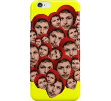 Michael Cera Plz - Yellow Background iPhone Case/Skin