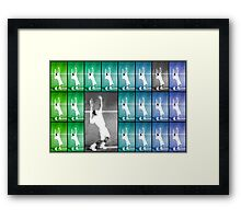 Tennis Serve Mosaic Abstract Framed Print