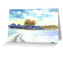WINTER LANDSCAPE - AQUAREL Greeting Card