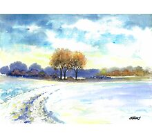 WINTER LANDSCAPE - AQUAREL Photographic Print