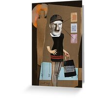 Day at the Mall Greeting Card