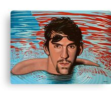 Michael Phelps painting Canvas Print
