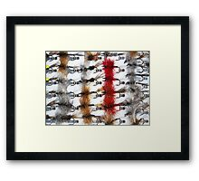 Hand-Tied Flies for Flyfishing Framed Print