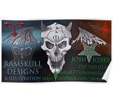 RAMSKULL DESIGN & ILLUSTRATION Poster