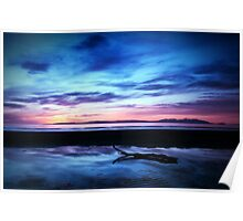 Sunset Over Troon Beach Poster